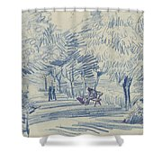 Avenue In A Park Arles, May 1888 Vincent Van Gogh 1853 - 1890 Shower Curtain