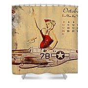 Aviation 1953 Shower Curtain