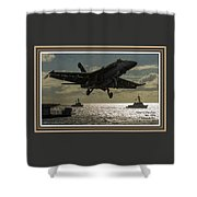 Aviation Art Catus 1 No. 26 L A With Decorative Ornate Printed Frame. Shower Curtain