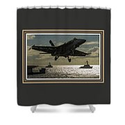 Aviation Art Catus 1 No. 26 L B With Decorative Ornate Printed Frame. Shower Curtain