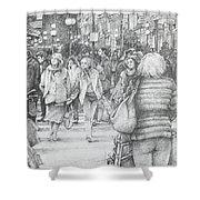 Avignon Shoppers Shower Curtain
