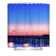 Avila Beach Pier At Sunset Shower Curtain
