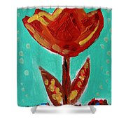 Avis-flowers From The Flower Patch Shower Curtain