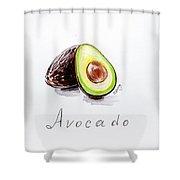 Avocado Lobule Shower Curtain
