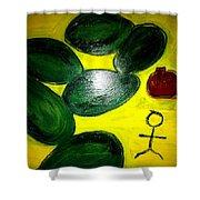 Avocado Man Shower Curtain
