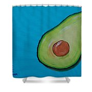 Avocado On The Side Shower Curtain