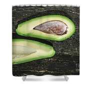 Avocado On Wood Shower Curtain