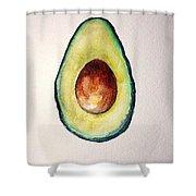 Avocado Paint Shower Curtain