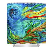 Awaken The Eagle Shower Curtain