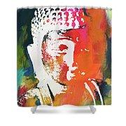 Awakened Buddha 5- Art By Linda Woods Shower Curtain