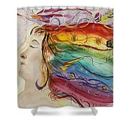 Awakening Consciousness Shower Curtain