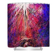 Away In A Manger Shower Curtain by Rachel Christine Nowicki