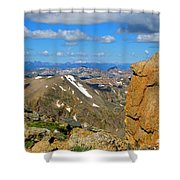 Awesome View From The Mount Massive Summit Shower Curtain