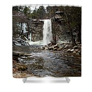 Awosting Falls In January #2 Shower Curtain