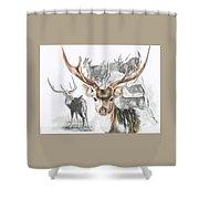 Axis Deer Shower Curtain