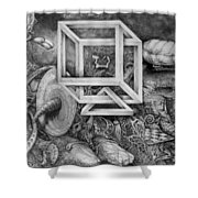 Axis Mundi Shower Curtain