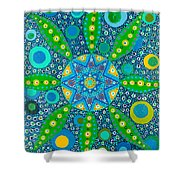 Ayahuasca Vision - Inside The Plant Cell  May 2015 Shower Curtain