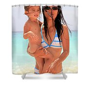 ayesha and Mones Shower Curtain
