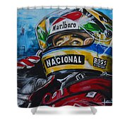 Ayrton, El Mito Shower Curtain