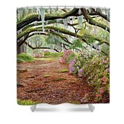 Azalea Alley Shower Curtain