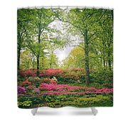 Azalea Hillside Shower Curtain