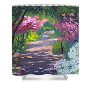 Azalea Path - Sayen Gardens Shower Curtain