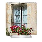 Azay Le Rideau Bridge, Window, Lace Shower Curtain