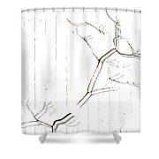 Azelea On White Shower Curtain