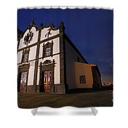 Azorean Church At Night Shower Curtain