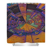 Aztec Abstract Shower Curtain