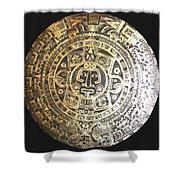 Aztec Calendar Shower Curtain