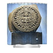 Aztec Calendar Stone Shower Curtain