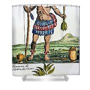 Aztec: Chocolate, 1685 Shower Curtain