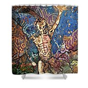 Aztec Cosmogony Shower Curtain