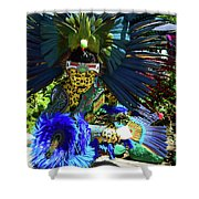 Aztec Costumed Dancer Shower Curtain