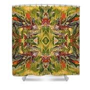 Aztec Kaleidoscope - Pattern 001 - Desert Shower Curtain