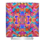 Aztec Kaleidoscope - Pattern 015 Shower Curtain