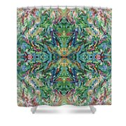 Aztec Kaleidoscope - Pattern 018 - Earth Shower Curtain