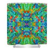 Aztec Kaleidoscope - Pattern 026 Shower Curtain