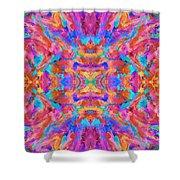 Aztec Kaleidoscope - Pattern 030 Shower Curtain