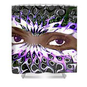 Aztec Mask Shower Curtain