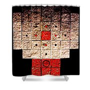Aztec Nuclear Furnace Shower Curtain by Eikoni Images