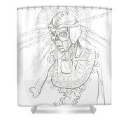 Aztec Warrior Shower Curtain