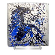 Azul Diablo Shower Curtain by J R Seymour