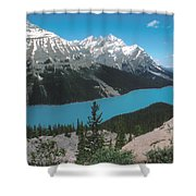 Azure Alberta Shower Curtain