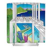 Azure Bay Shower Curtain