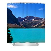 Azure Blue Mountain Lake Shower Curtain