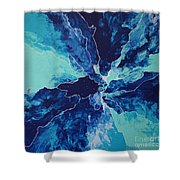 Azure Impulse II Shower Curtain