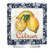 Azure Lemon 2 Shower Curtain