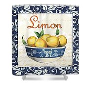 Azure Lemon 3 Shower Curtain